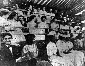 Irvington Club fans in the bleachers, July 17, 1906