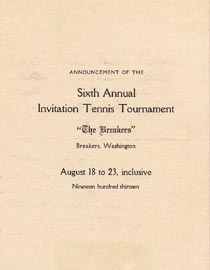 Brochure for the 6th Annual Breakers Invitational Tournament in 1913
