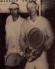 Emery Neale and Sam Lee - charter members of the Oregon Tennis Historical Committee