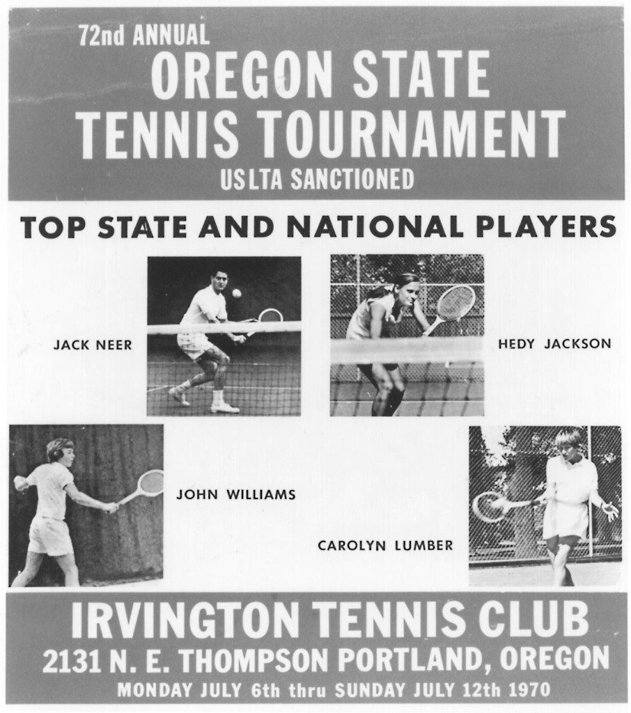 Poster promoting the 1975 Oregon State Tournament
