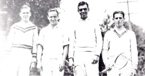 1929 University of Oregon team: Lockwood, Harrison, Almquist, Henry Neer